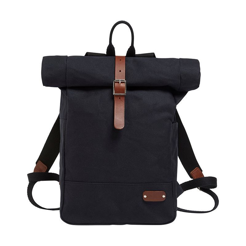 Vintage Durable Canvas Backpack factory Rucksack Travel Roll-Top Ruck Sack