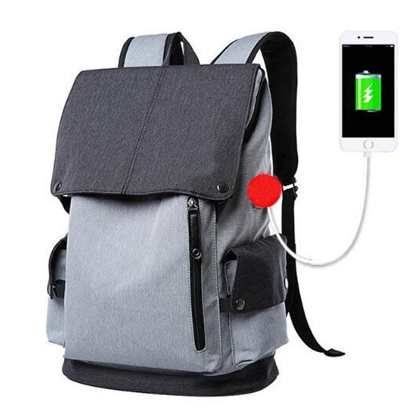 Anti Theft Travel Business Backpack Wholesaler Water Resistant Polyester, with USB Charging Port