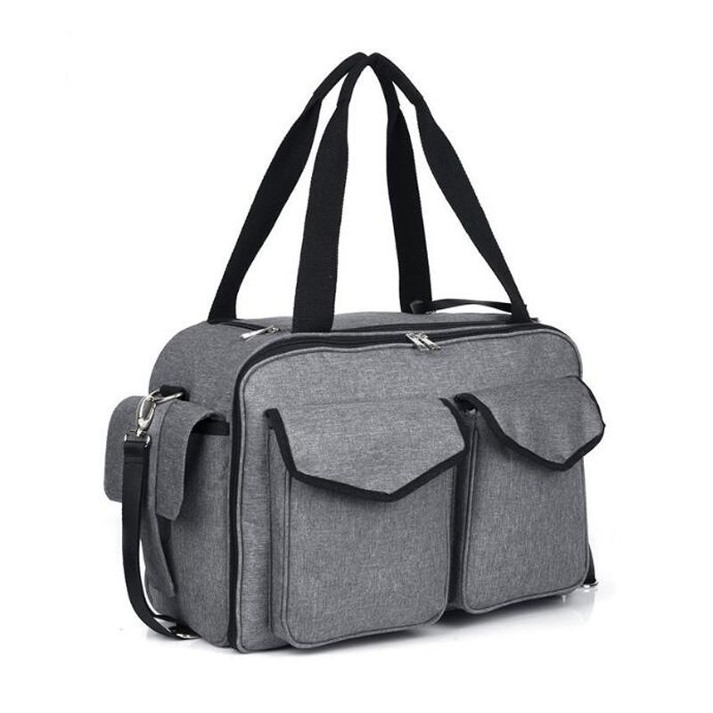 Large Diaper Bag Tote Satchel Messenger for Mom and Girls in Grey-backpack wholesaler