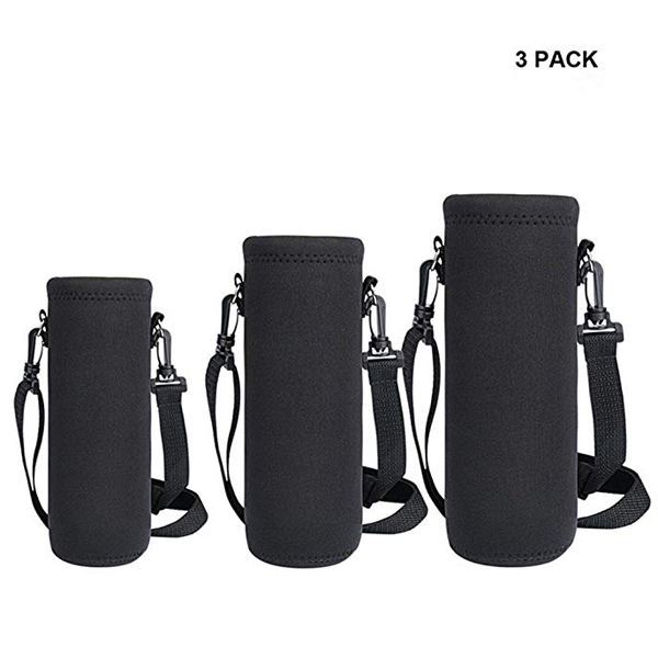 Insulated Water Bottle carrier Sling Bag with Shoulder Strap for Outdoor Sports Camping Travel,Black-backpack manufacturer