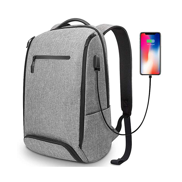 Water Resistant Laptop Backpack supplier Fits 15.6 Inch Laptop, with Shoe Compartment, External USB Charging Port