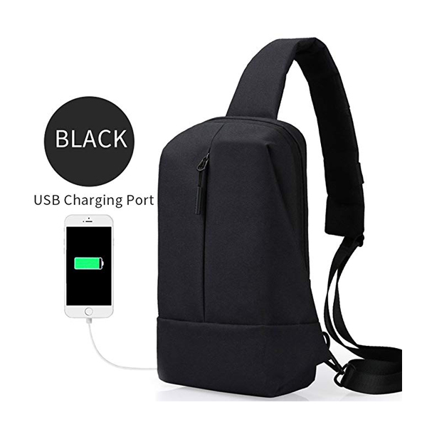 Shoulder Messenger Bag with USB Charging Port for Travel for Men & Women-backpack supplier