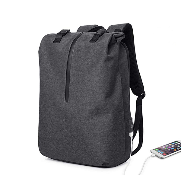 Lightweight RollTop Large Backpack factory with USB Charging Port Fits up to 17 inch Computer