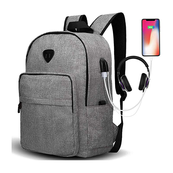 Durable Lightweight Travel Laptop Backpack factory with USB Charging Port Water Resistant Bookbag for Men and Women