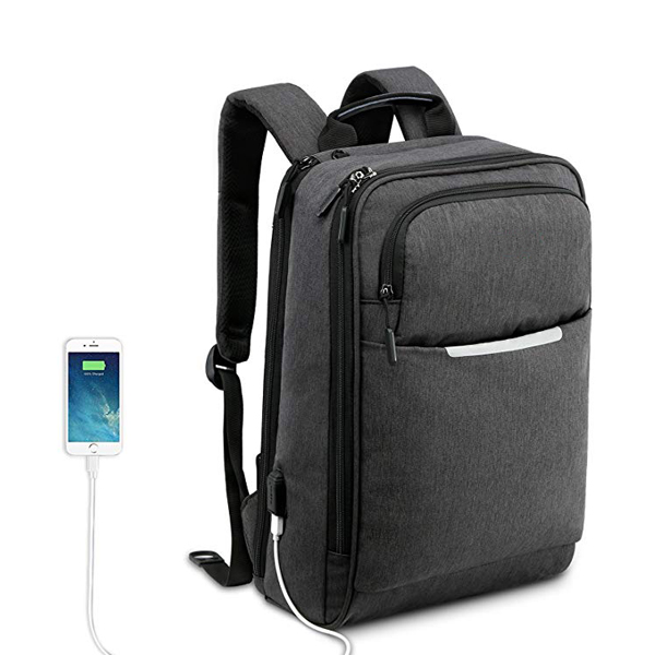 Slim Business Lightweight Laptop Backpack factory for Men with USB Charging Port