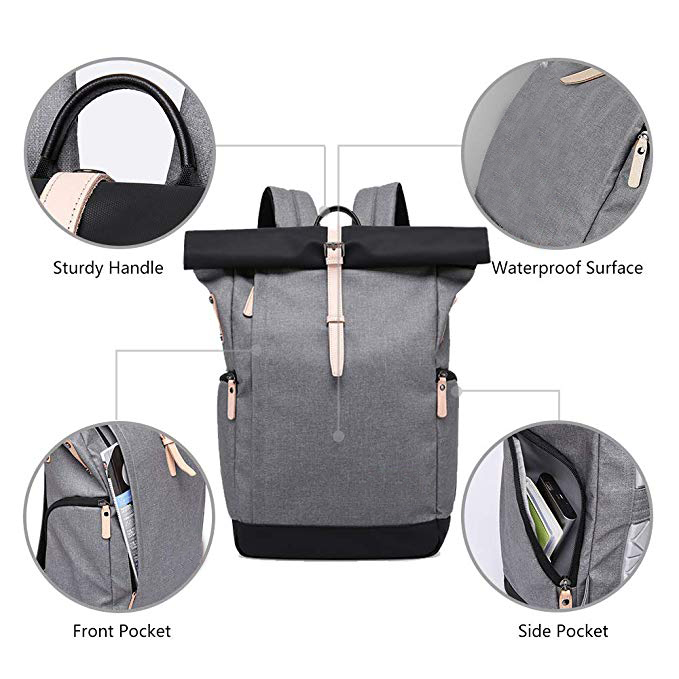 Roll-top Anti-theft Backpack factory
