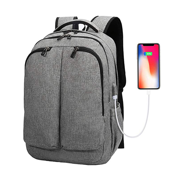 Large Business Backpack factory Fits 17 Inch Notebook with USB Charging Port and Earphone Hole