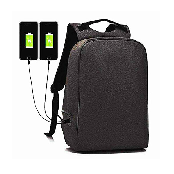 "Shockproof Business backpack factory with USB Charging Port Compartments Fit 15.6"" Laptops"