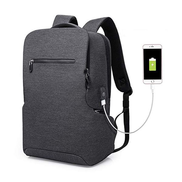 Water Resistant Laptop Backpack factory for 15.6-Inch Laptop with USB Charging Port