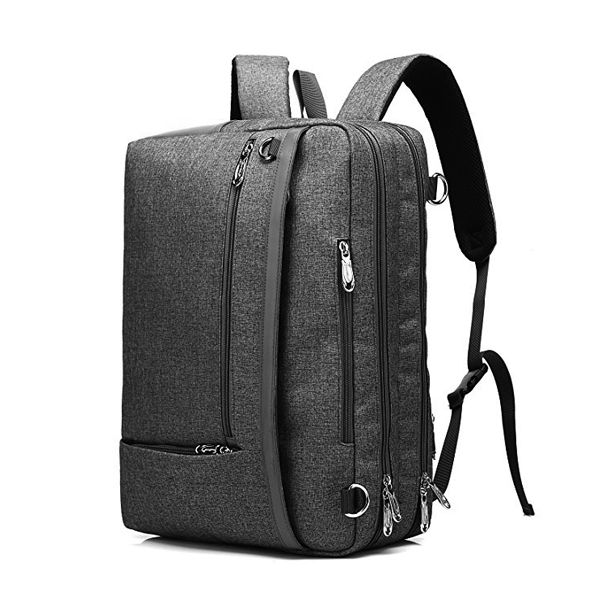 Convertible Messenger Backpack factory Fits 15.6 Inch Laptop for Men/Women (Grey)