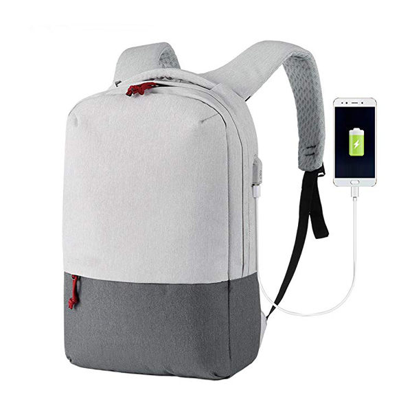 Waterproof Business Backpack factory with USB Charging Port Fits Up to 15.6″ Laptop