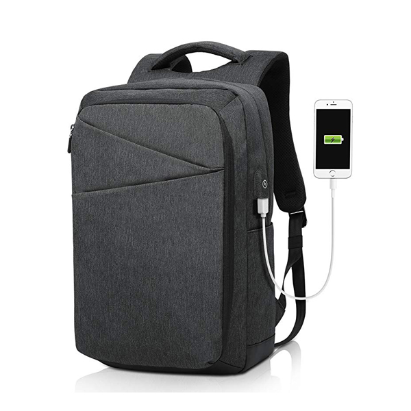 Business Anti Theft Laptop Backpack factory with USB Charging Port Fits 15.6 Inch Laptop