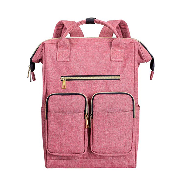 Lightweight Ladies Backpack factory Wide Open Large Capatity Multipurpose Use, Pink