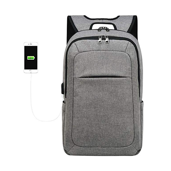 15.6 / 17Inch Slim Laptop Backpack factory with USB Charging Port 5Color Magenta/Black/Grey/Purple