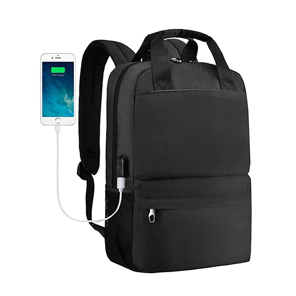 Lightweight Slim Laptop Backpack factory With USB Charging Port For Business/Travel/Laptop