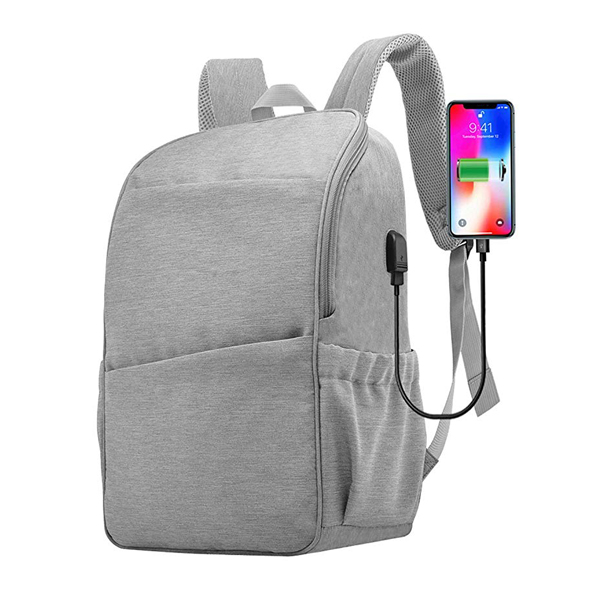 Business Travel College Backpack factory with USB Charging Port Fits 15.6 Inch Laptop