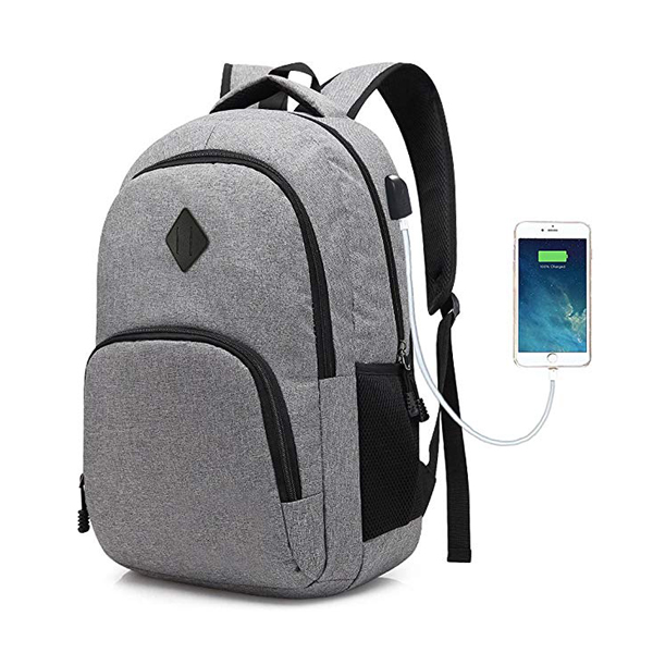 Minimalist Laptop Backpack factory Fits 15.6-Inch Notebook with USB Charging Port