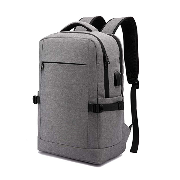 Water Resistant Travel Backpack factory with USB Charging Port and Headphone Port