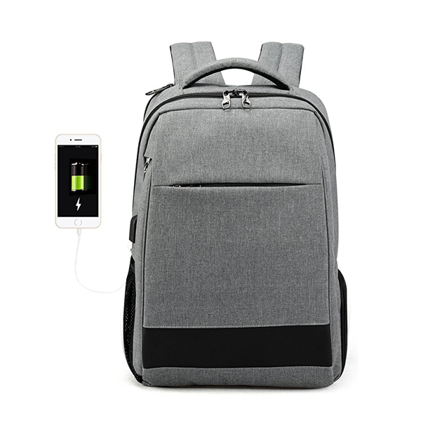 Fashion Casual Backpack factory with USB Charging Port for Men Women Fit 12-15.6 Inch Notebook