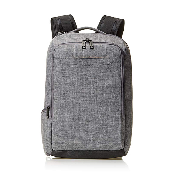 Gray Slim Backpack factory with Low-profile top and side grab handles