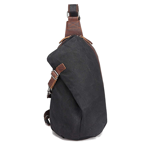 Men's Sling Backpack Factory Waxed Canvas Crossbody Bag 10 Liters