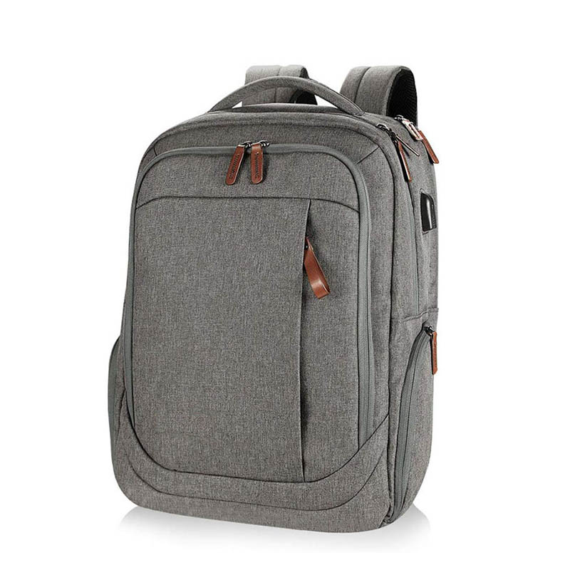 Large computer backpack fits up to 17.3 inch laptop