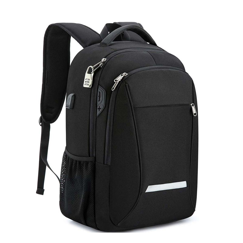 Men travel backpack factory fits 15.6 computer with USB charging