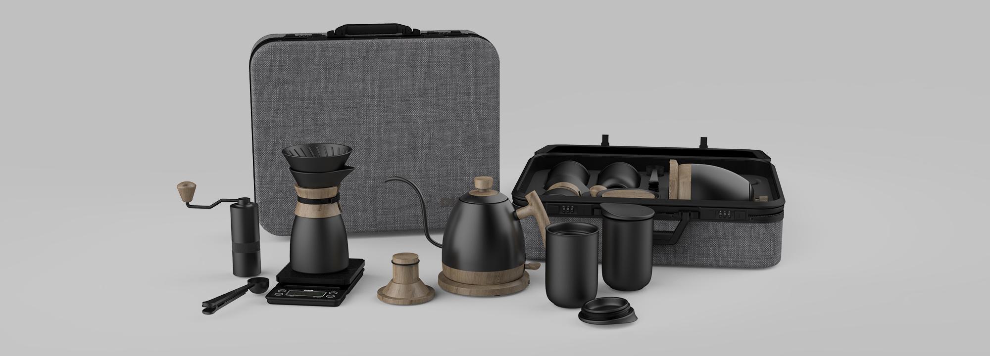 coffee set suitcase