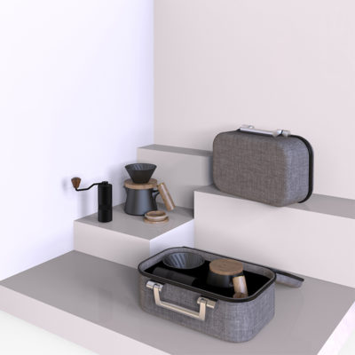 manual coffee set gift bag