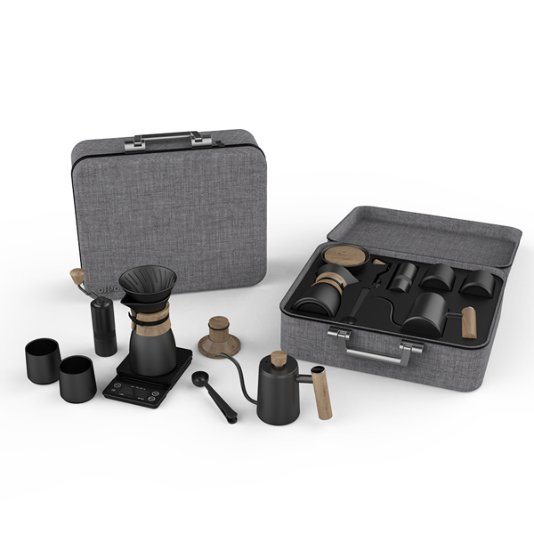 Why this coffee set suitcase is ideal New Year gift?