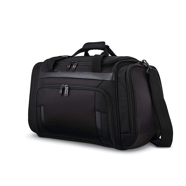 Travel Duffel Bag Waterproof Canvas Genuine Leather Weekend bag Factory